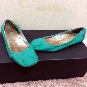 Toms Green Ballet Flats Retired Style